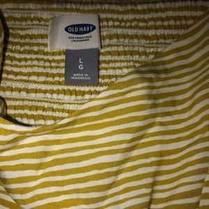 Yellow and white stripped dress